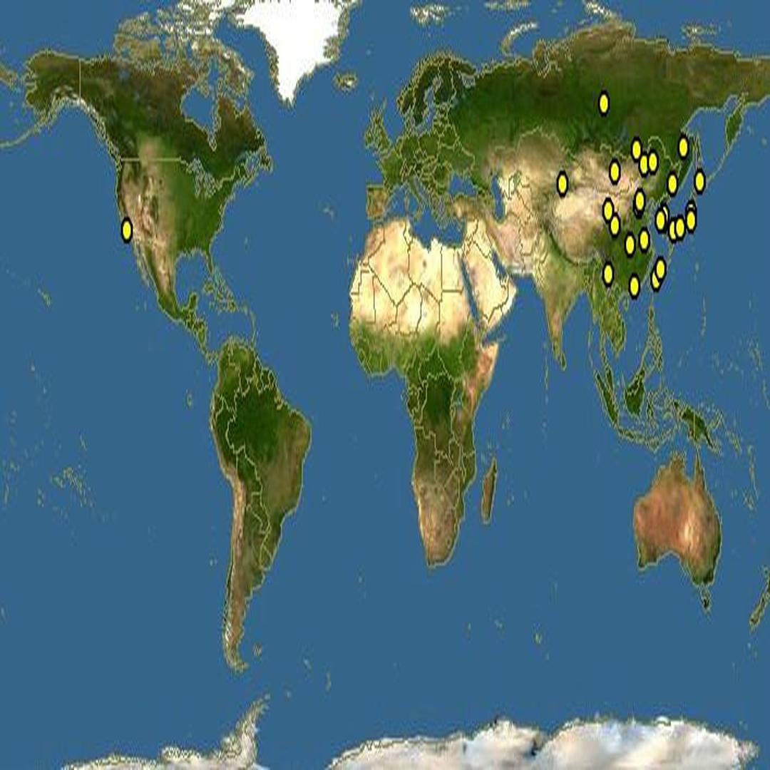 灰椋鳥分布圖